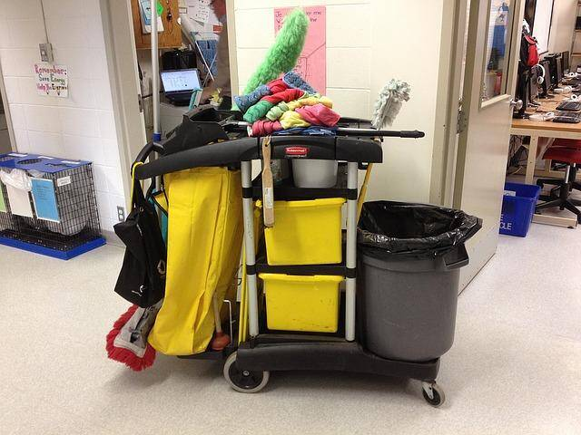 janitorial cart day porter