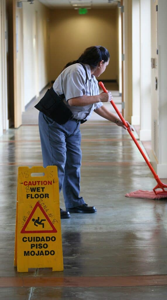day porter janitor mopping